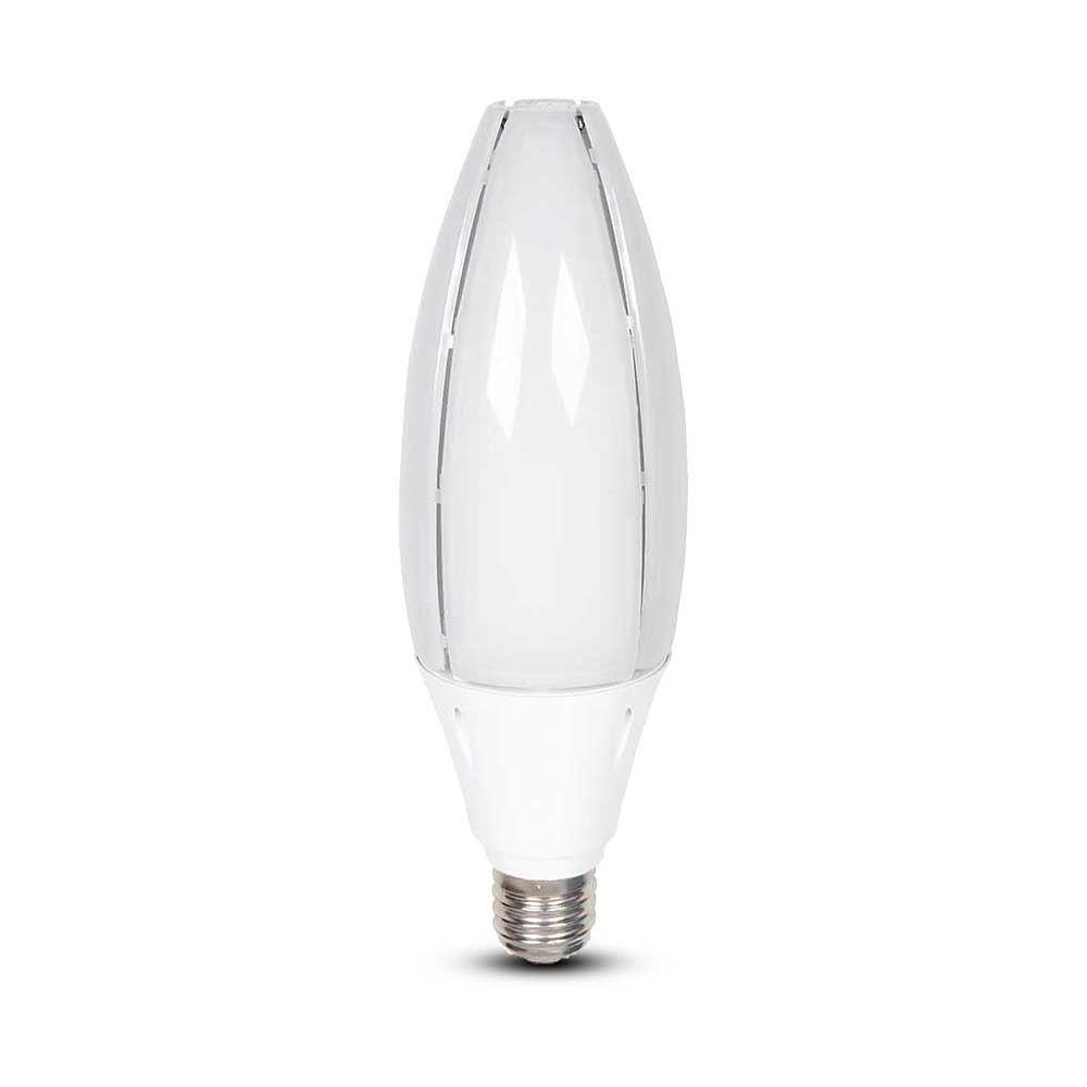 Bec LED tip Maslina 60W, E40, Lumina Rece 6400K - Cip Samsung