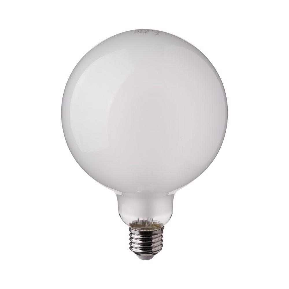 Bec LED Filament 7W, E27, G125, Mat, Lumina Rece 6400K