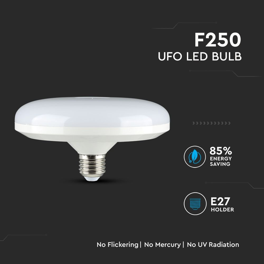 Bec LED 36W, E27, F250, Circular UFO, Lumina Rece 6400K Cip Samsung