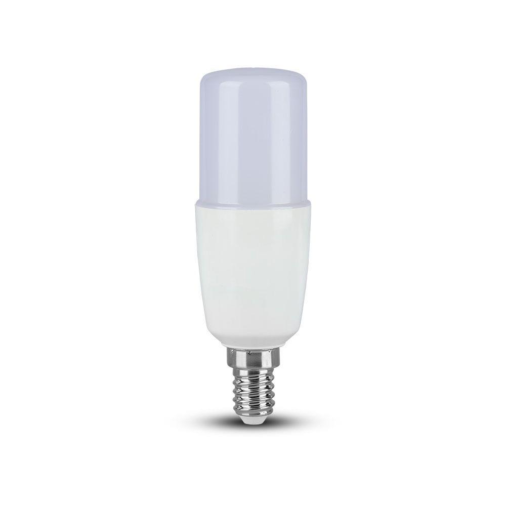 Bec LED 8W, E14, T37, Plastic, Lumina Naturala 4000K Cip Samsung
