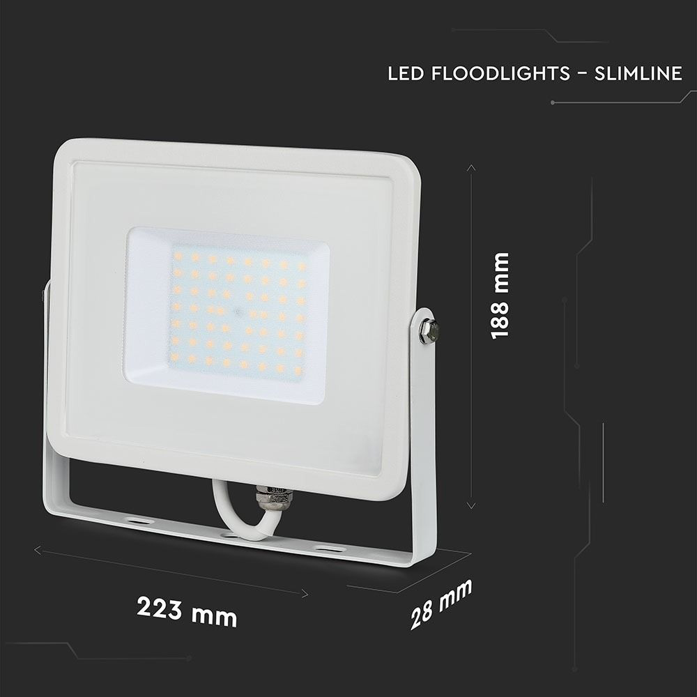 Proiector LED 50W, SMD, Corp Alb, Lumina Rece, CIP SAMSUNG