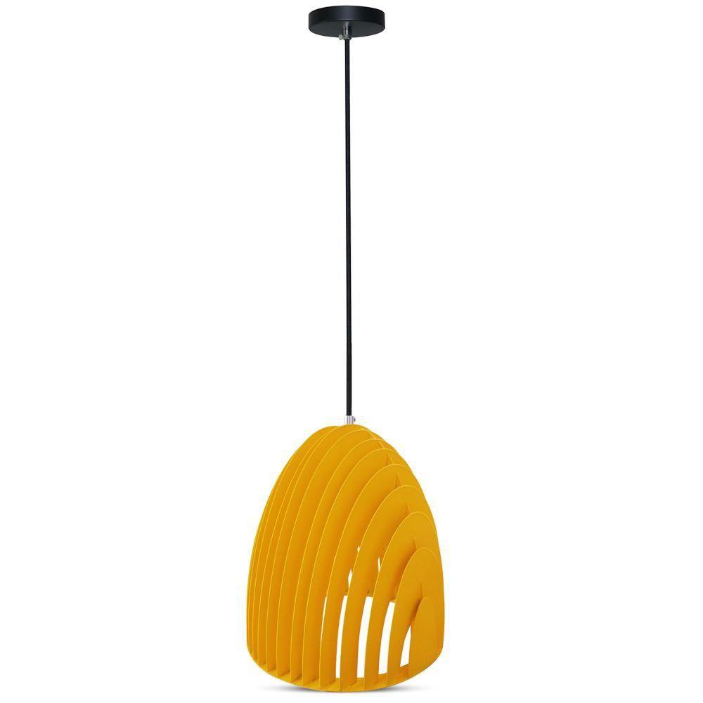 Pendul Light Cone Prism Galben, D:250x270mm