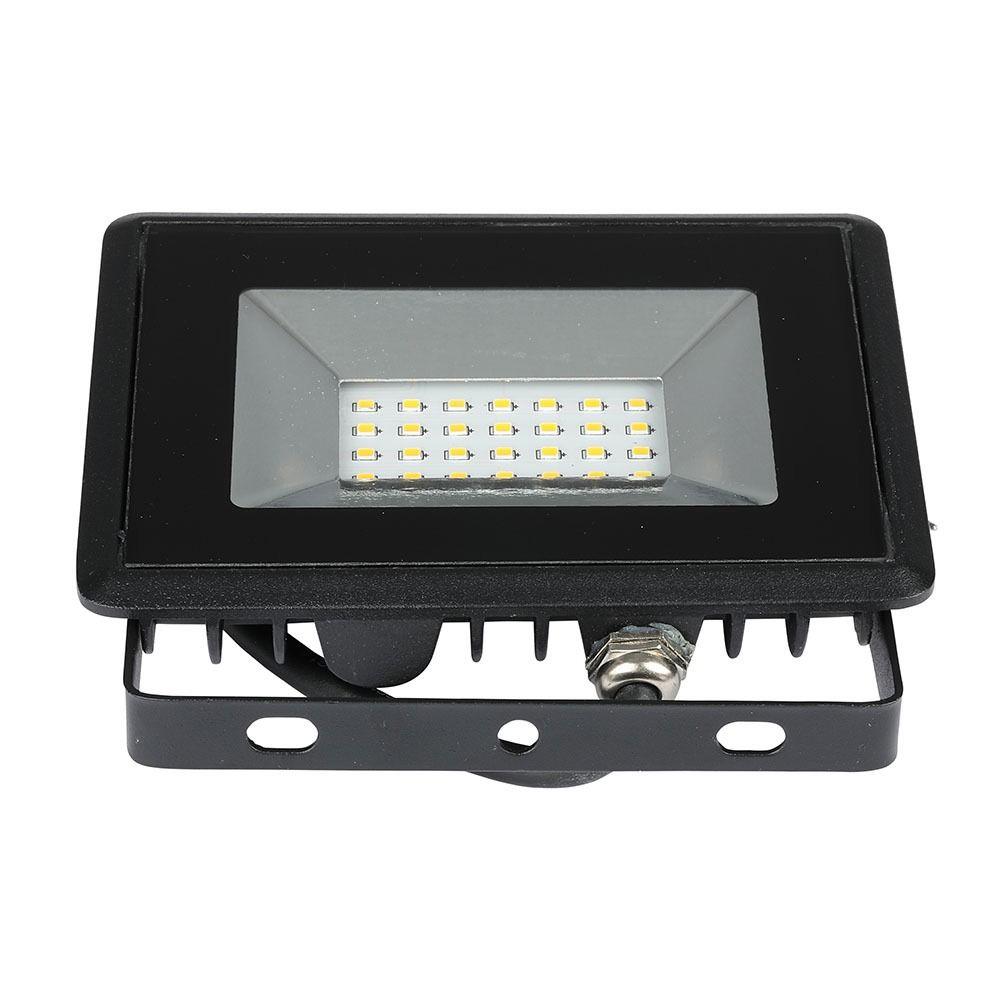 Proiector LED 20W, SMD, Seria-E, Corp Negru, Lumina Calda