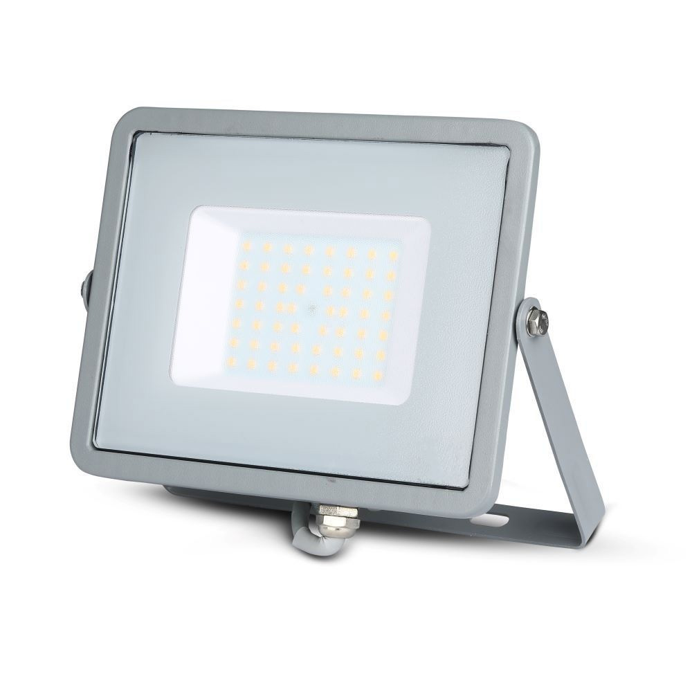 Proiector LED 50W, SMD, Corp Gri, Lumina Calda, CIP SAMSUNG