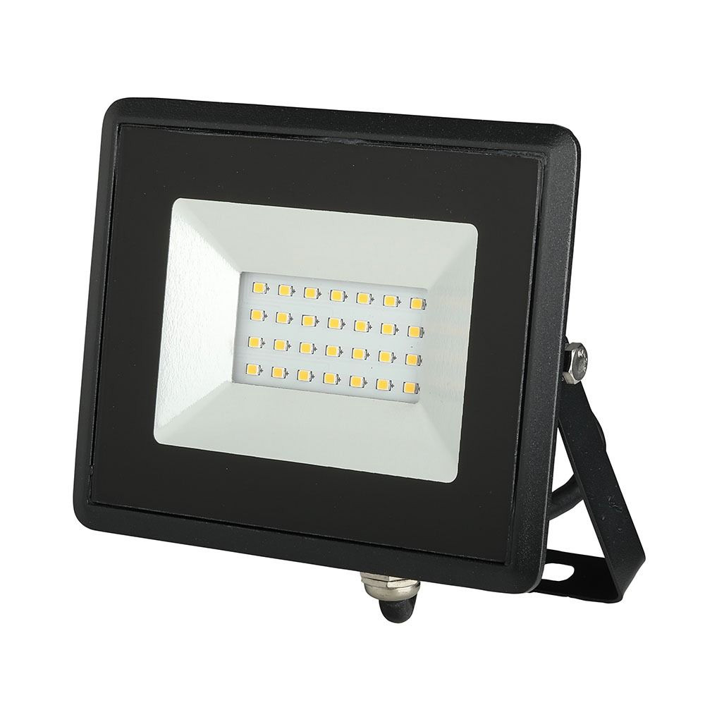 Proiector LED 20W, SMD, Seria-E, Corp Negru, Lumina Naturala