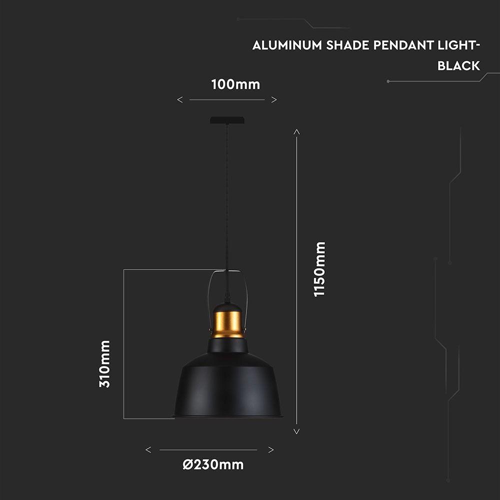 Pendul Aluminiu, Negru+Auriu