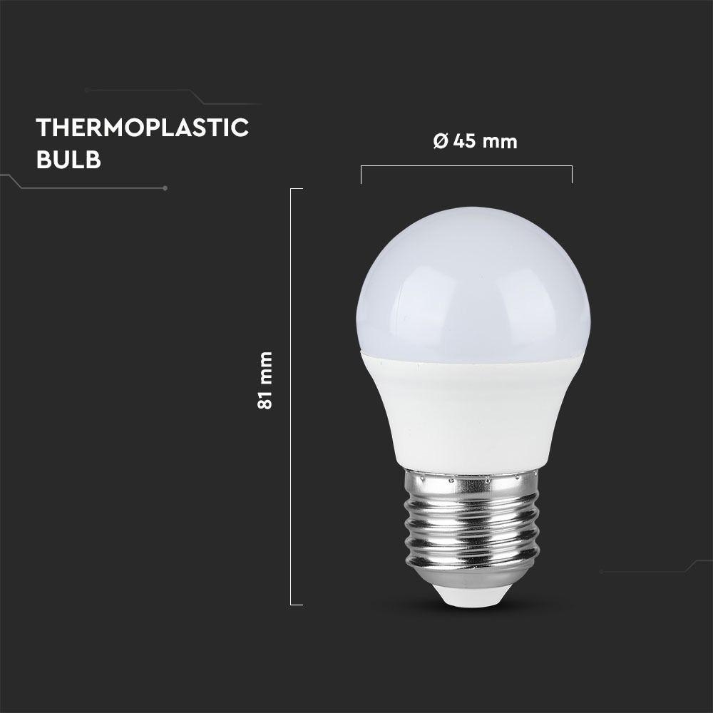 Bec LED 4.5W, E27, G45, Plastic, Lumina Calda 3000K CIP SAMSUNG
