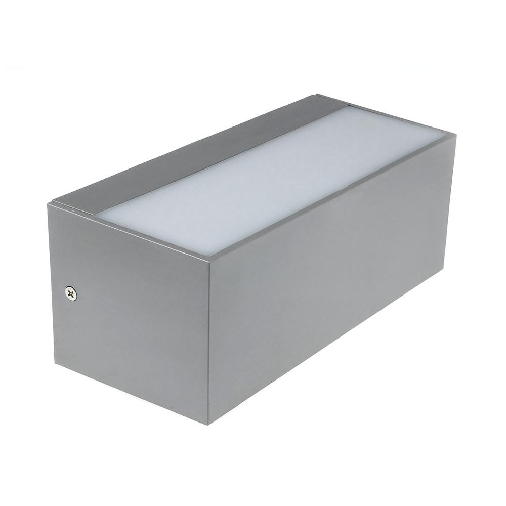 Lampa LED de Exterior cu Lumina Difuza de 12W, Corp Gri, Lumina Neutra(4000K), IP65, Reglabila Sus/Jos