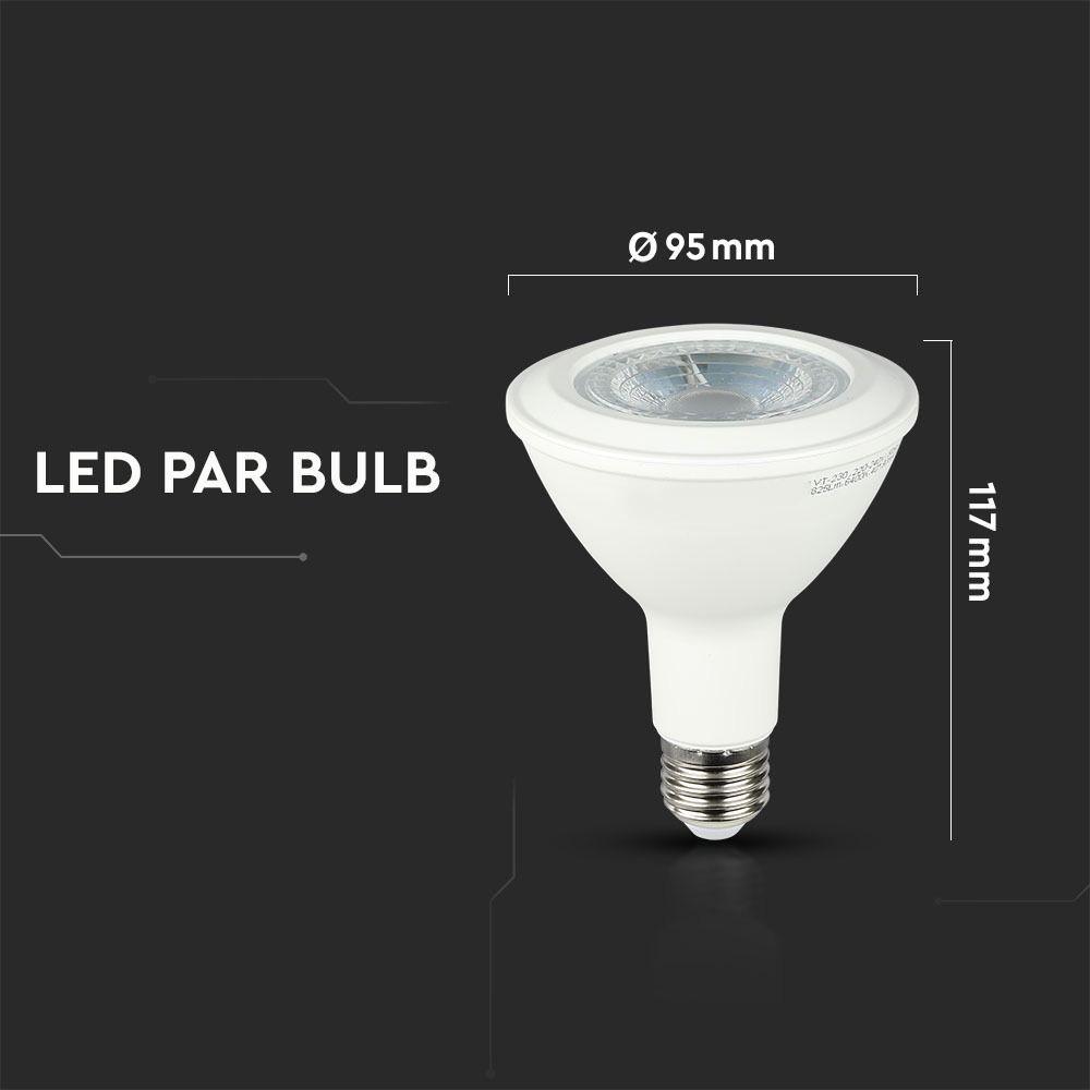 Bec LED 11W, E27, PAR30, Lumina Rece 6400K - Chip SAMSUNG