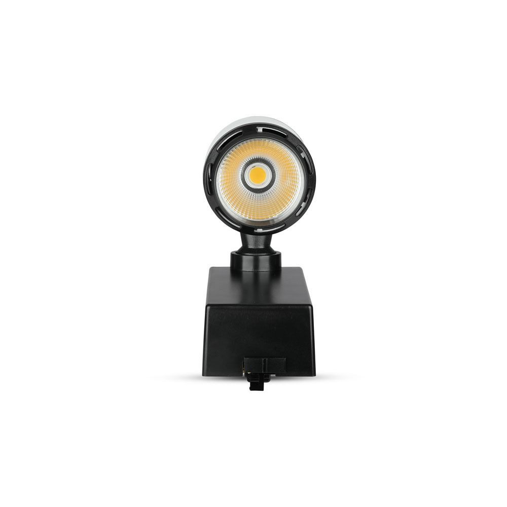 Proiector LED pe Sina 25W, Corp Negru/Alb, Lumina Naturala