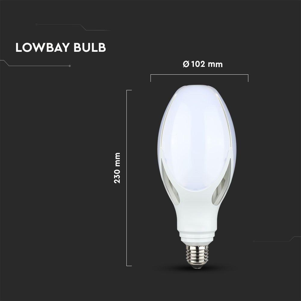 Bec LED tip Maslina 36W, E27, Lumina Rece 6500K - Cip Samsung