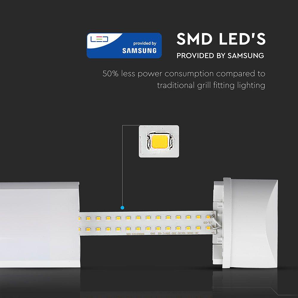 Lampa Liniara 50W, 1,5M, Lumina Rece (6400K) cu Cip Samsung