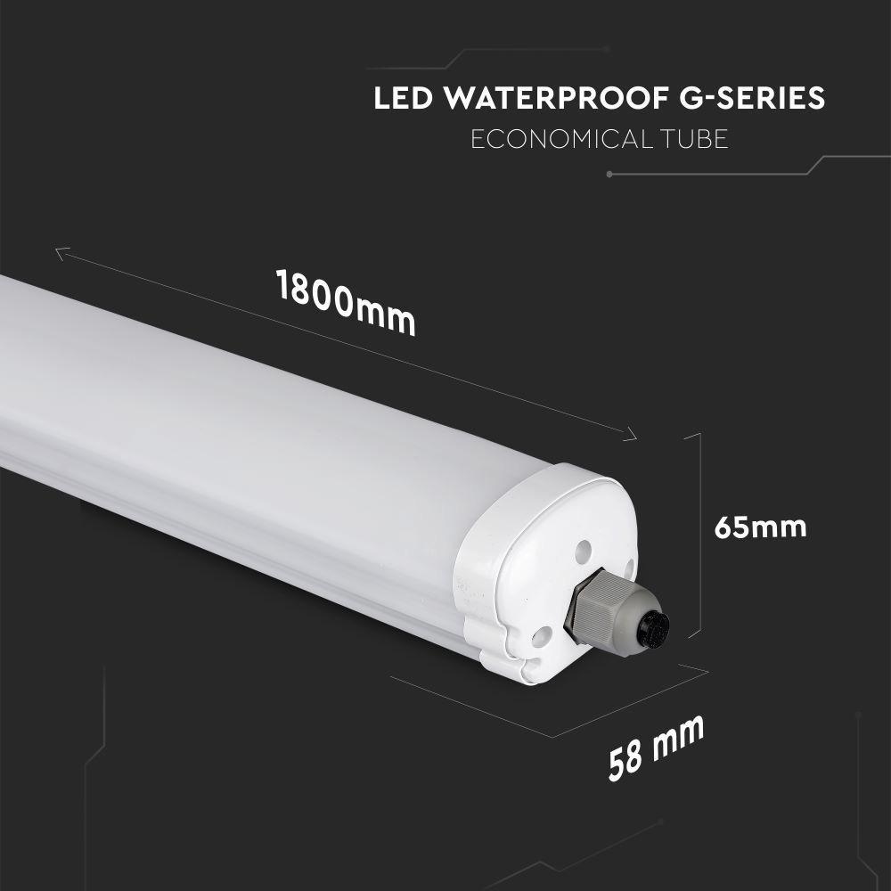 Lampa Liniara LED Impermeabila 60W, 1.8M, Lumina Naturala 4500K Cip Samsung