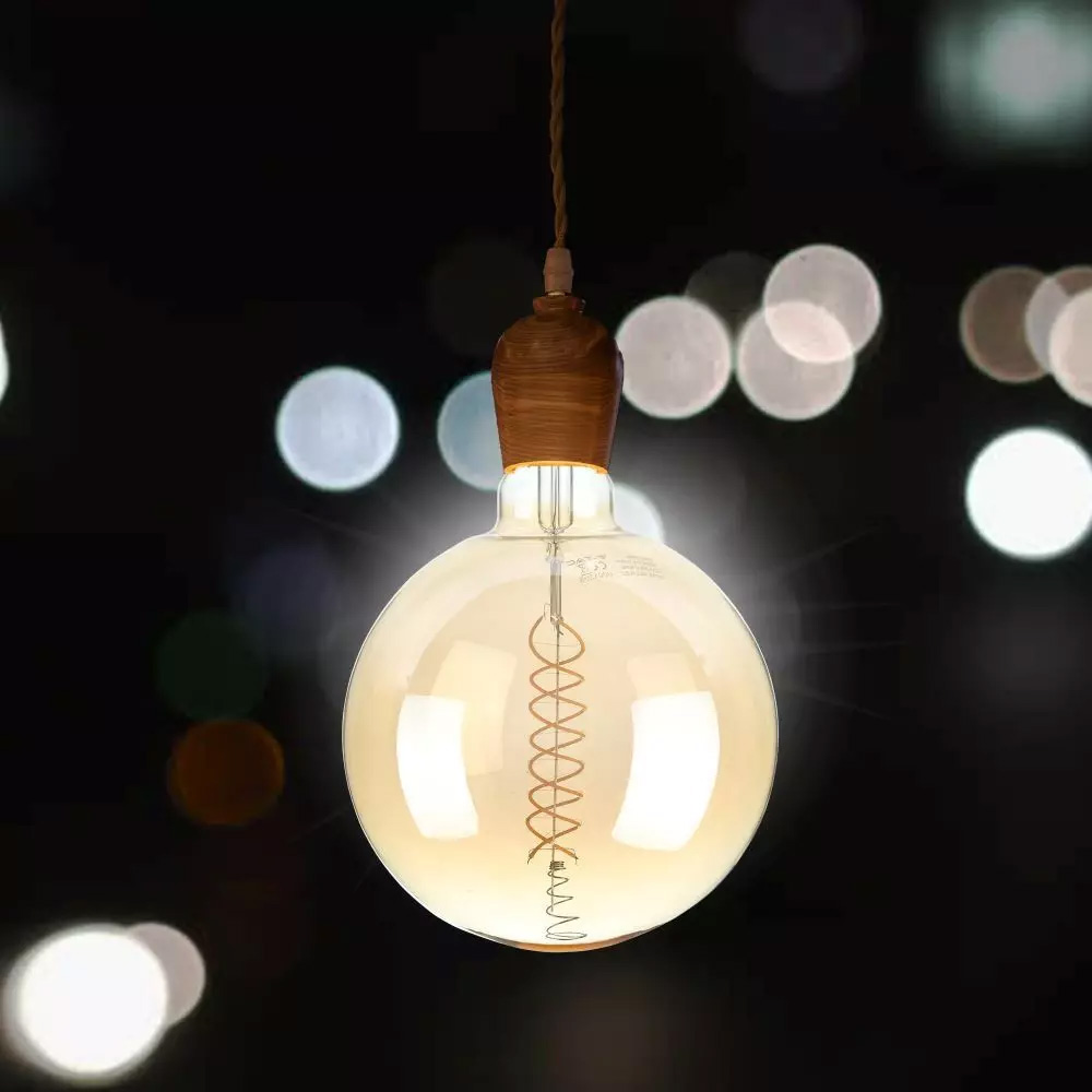 Bec LED Filament Dimabil 8W, G200, E27, Lumina Calda 2000K