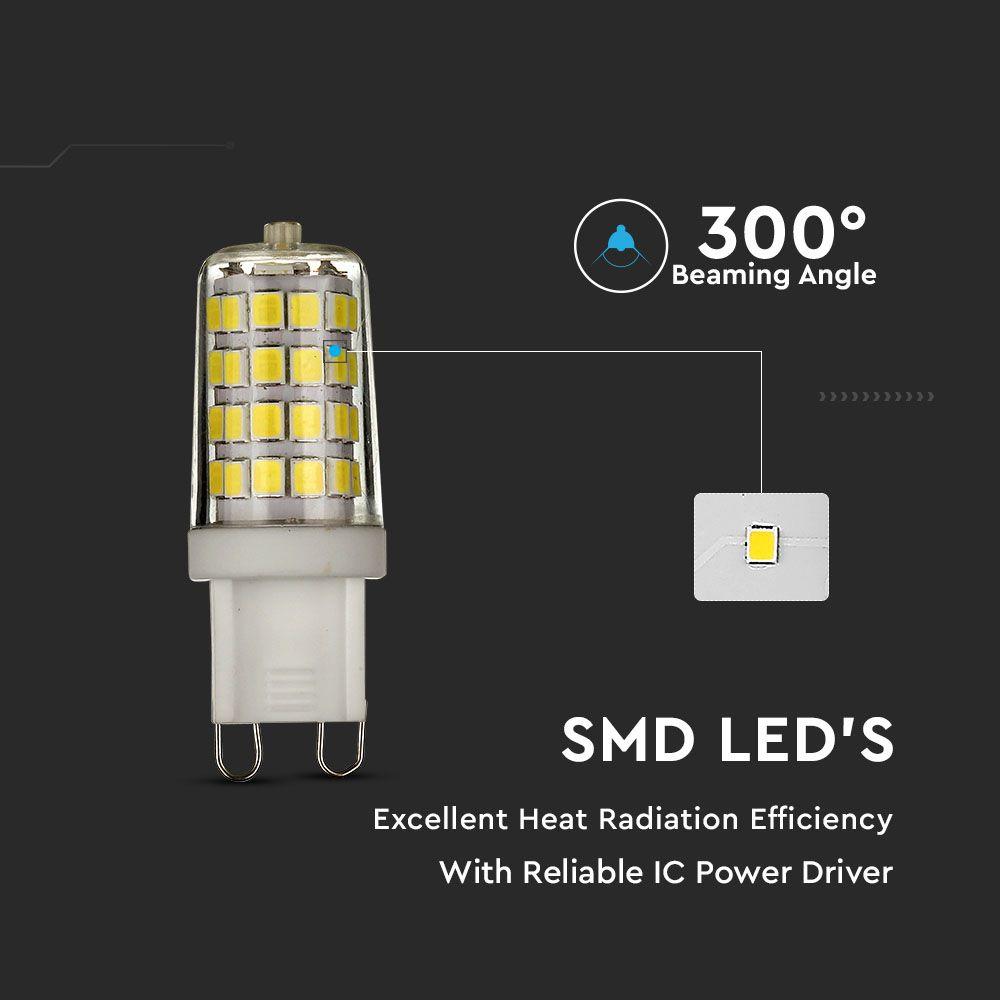Bec LED G9, 3W, Plastic, Lumina Naturala 4000K, Cip Samsung