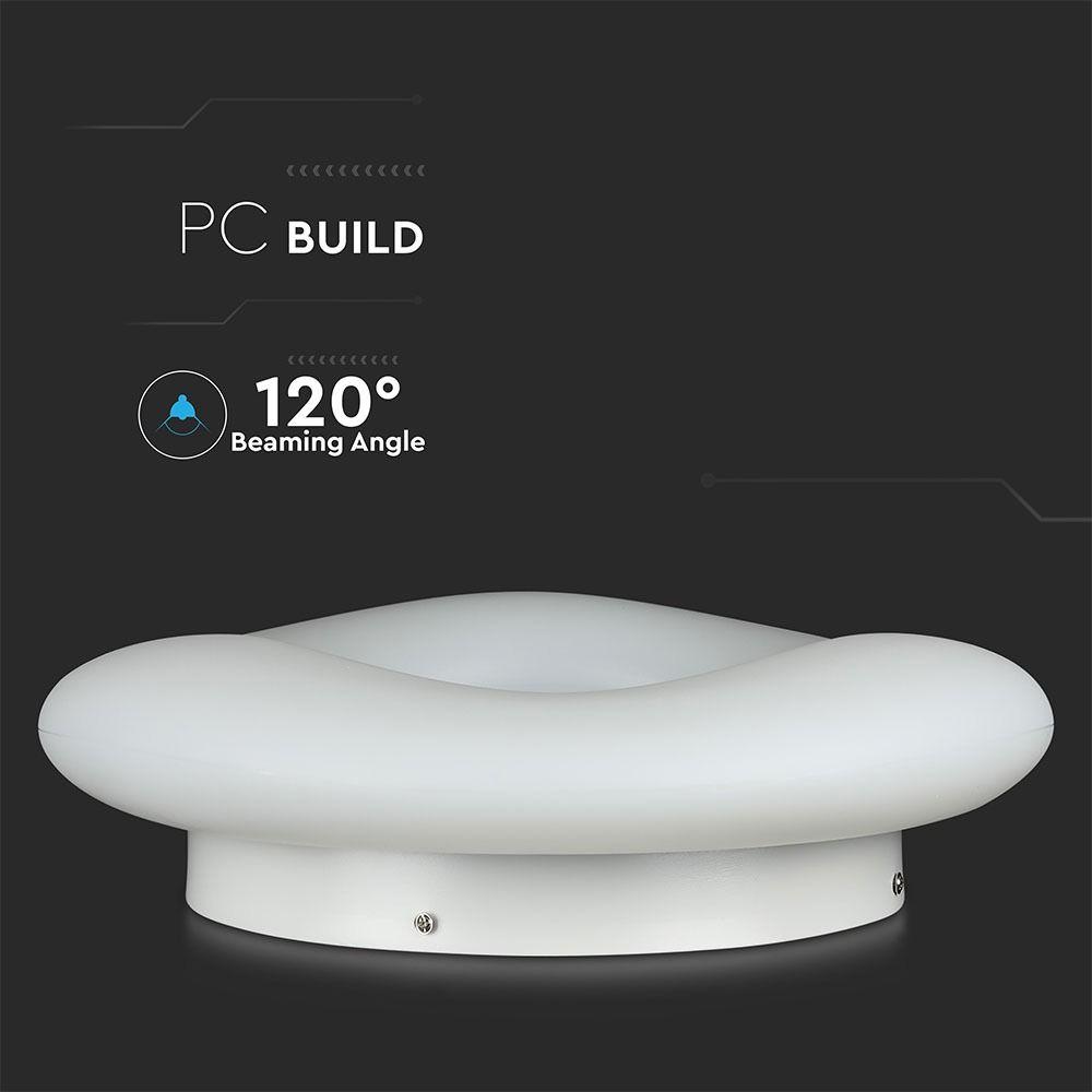 Aplica LED 32W, Rotunda cu Schimbare Temperatura de Culoare, Dimabila, Corp Alb