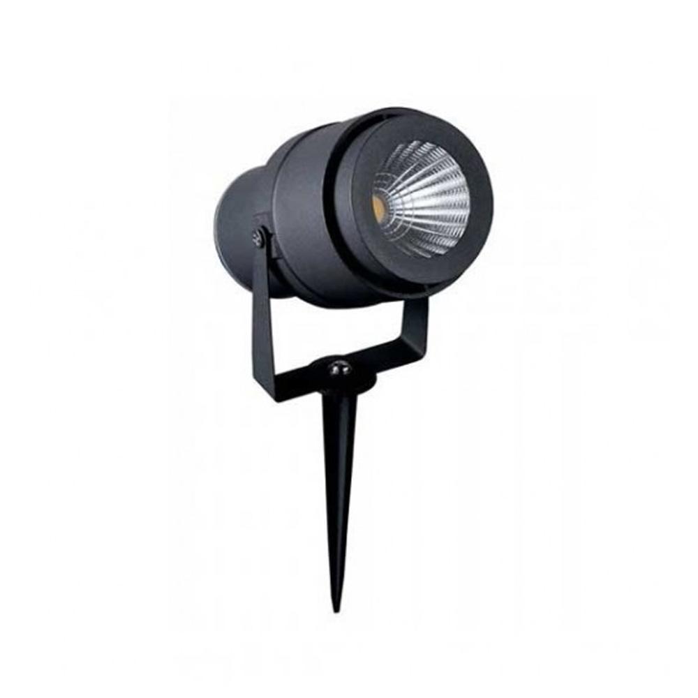 Lampa LED de Gradina cu Tepusa 12W, Corp Gri, Lumina Verde