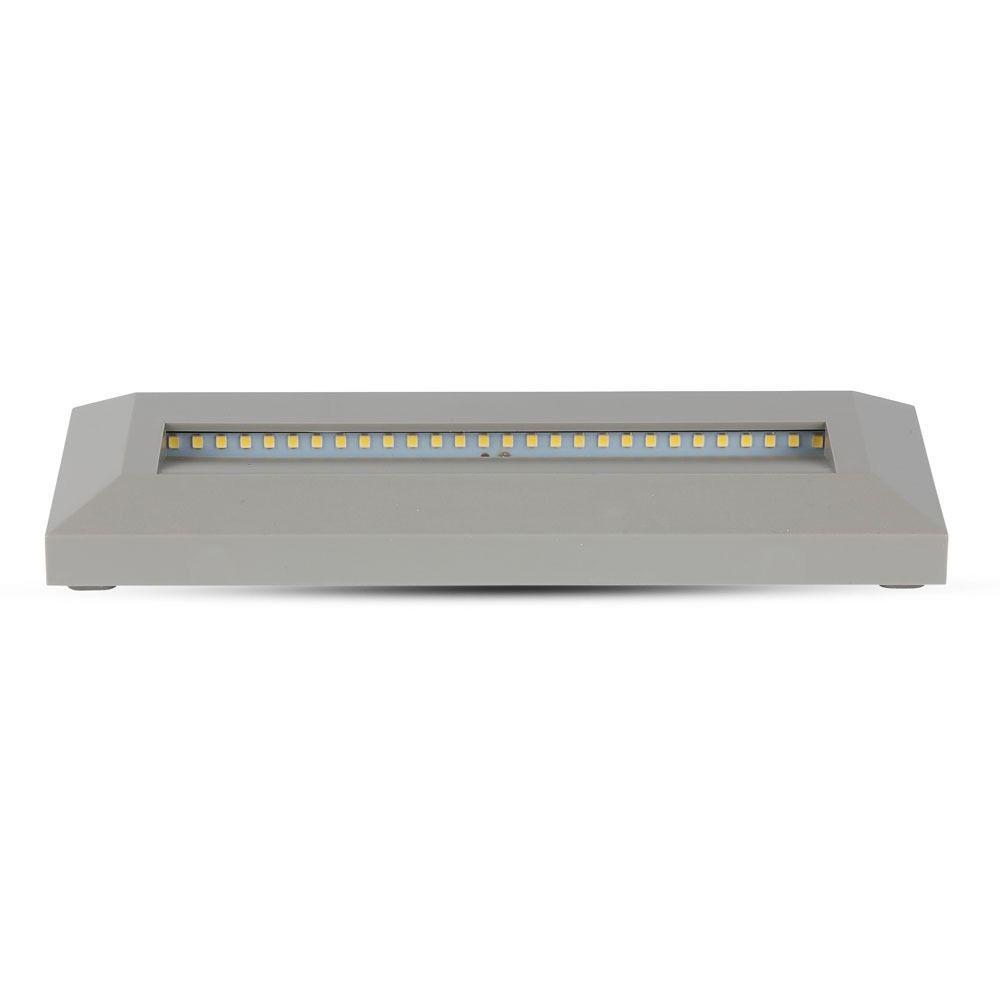 Lampa LED Pentru Scara 3W, Corp GRI Dreptunghiular, Lumina Calda (3000K)