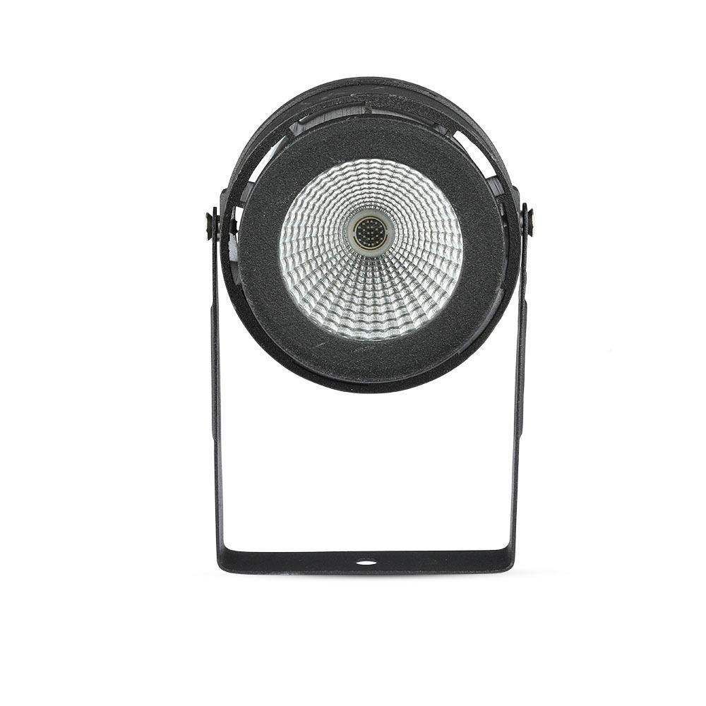 Lampa LED Gradina 12W cu Tepusa, Corp Negru, Lumina Calda 3000K