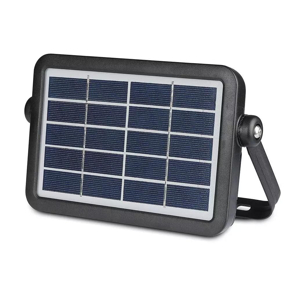 Proiector Solar 5W cu Corp Negru, Lumina Naturala 4000K