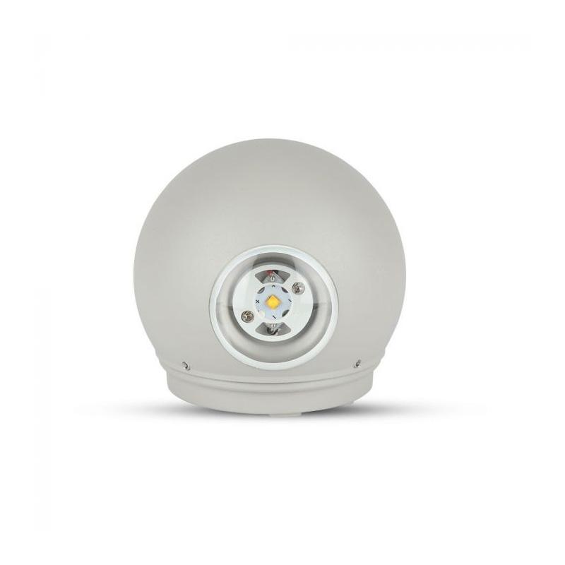 Lampa LED 6W, Rotunda, Corp Gri, IP65, Lumina Naturala (4000K)