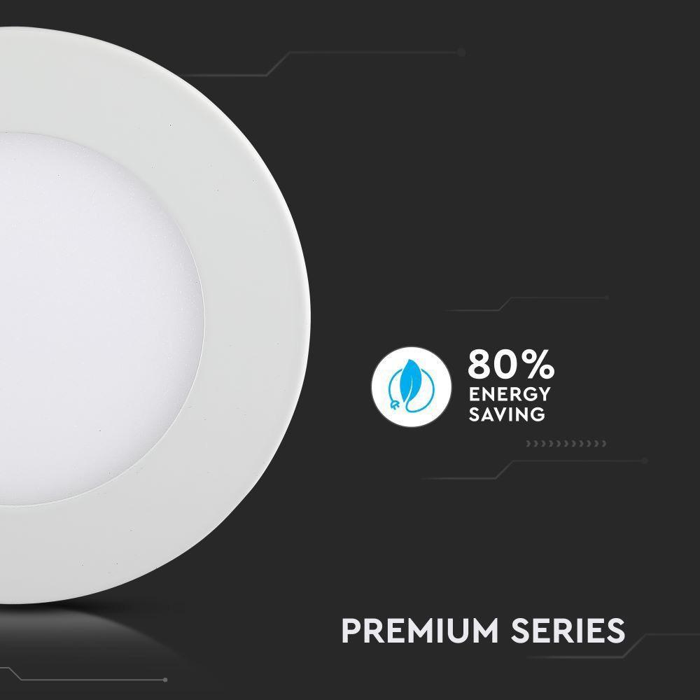 Panou LED 22W, Rotund, Incastrat, Lumina Naturala 4000K