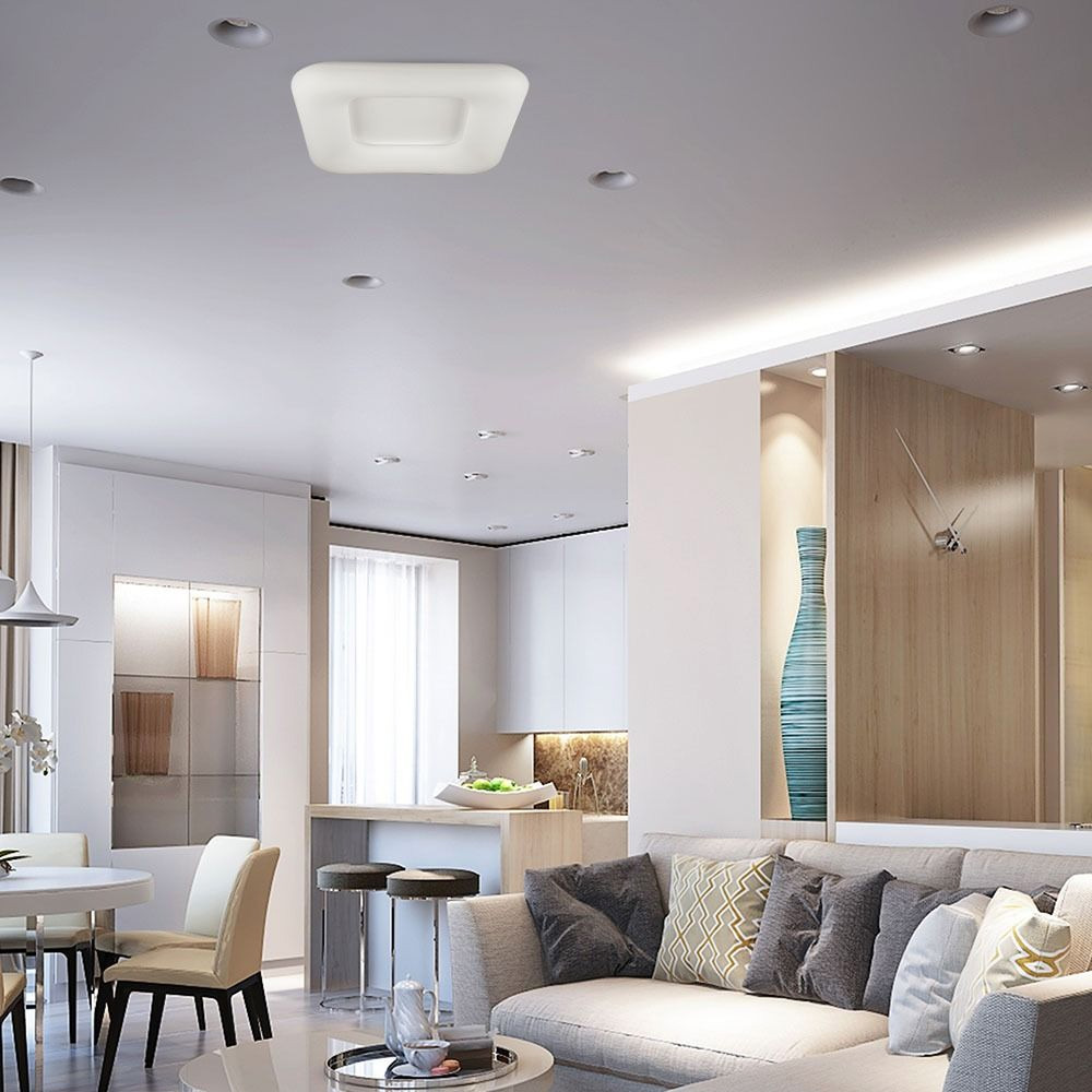 Aplica LED Patrata 40W, Dimabila cu Schimbare Temperatura de Culoare
