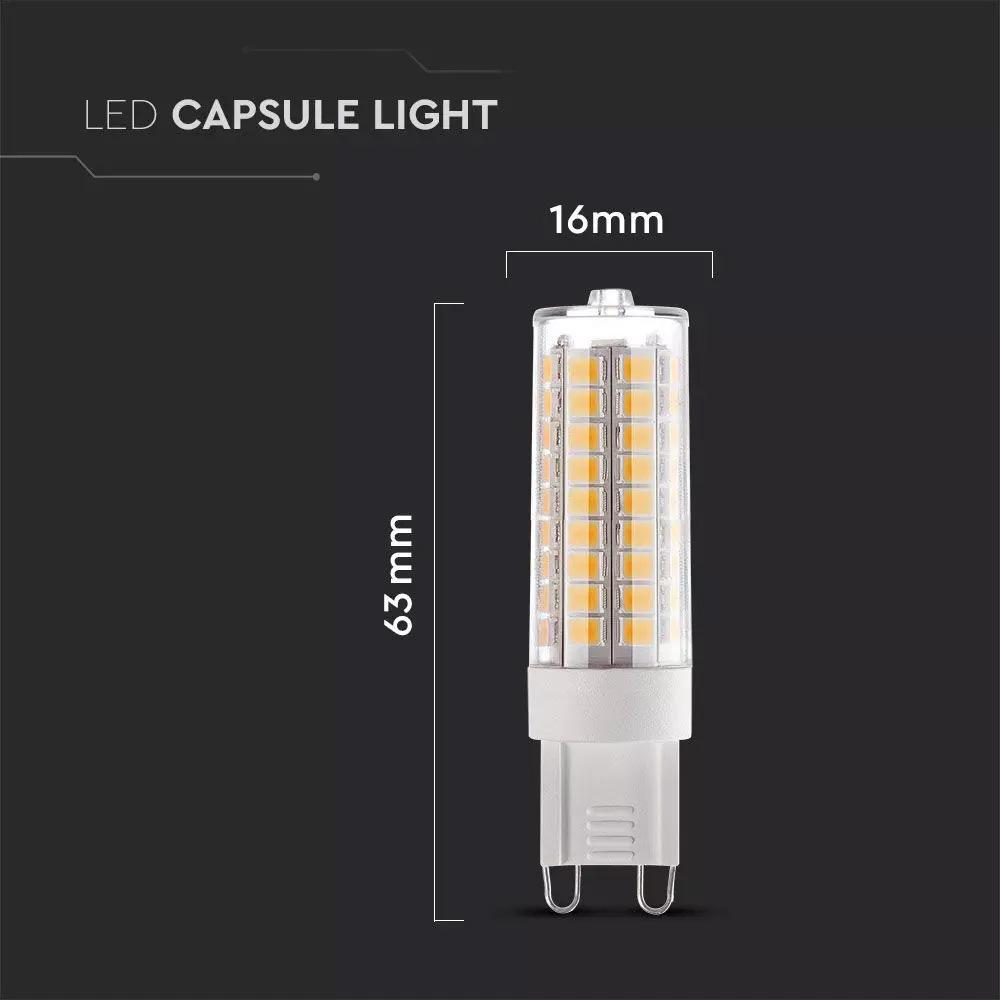 Bec LED G9, 5.5W, Plastic, Lumina Naturala 4000K