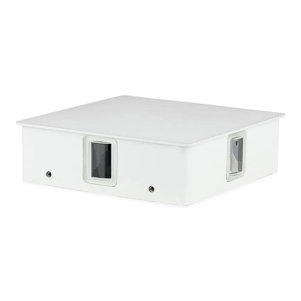 Lampa de Perete LED Patrata 4W, Corp Alb, Lumina Naturala (4000K) IP65