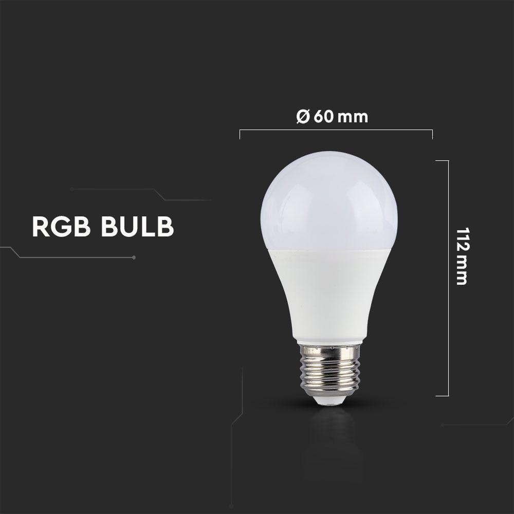 Bec LED 6W, E27, A60, RGB+Lumina Calda 2700K Cu Telecomanda