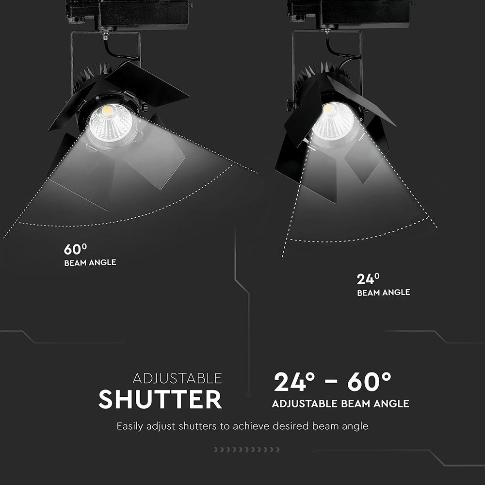 Proiector LED pe Sina 33W, Corp Negru, Lumina Calda cu Cip Samsung