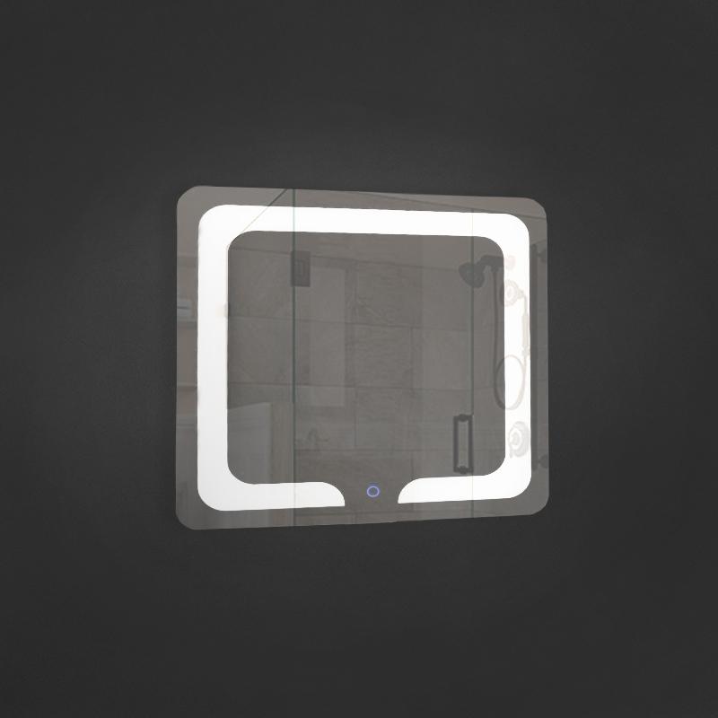 Oglinda cu LED 18W, Patrata 700x700mm, Lumina rece, Touch Screen