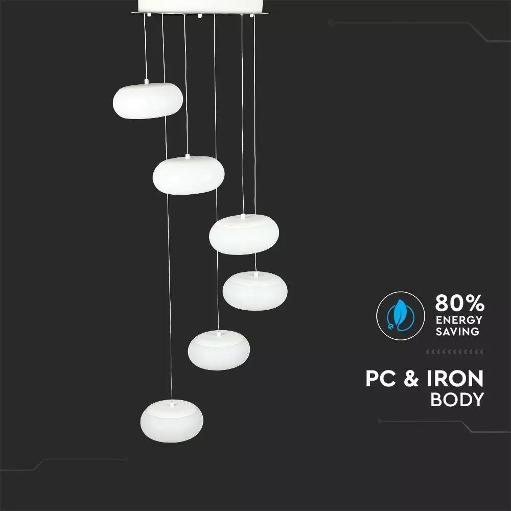 Pendant LED 72W, Designer, Suspendat, Triac Dimabila, Lumina Calda 3000K