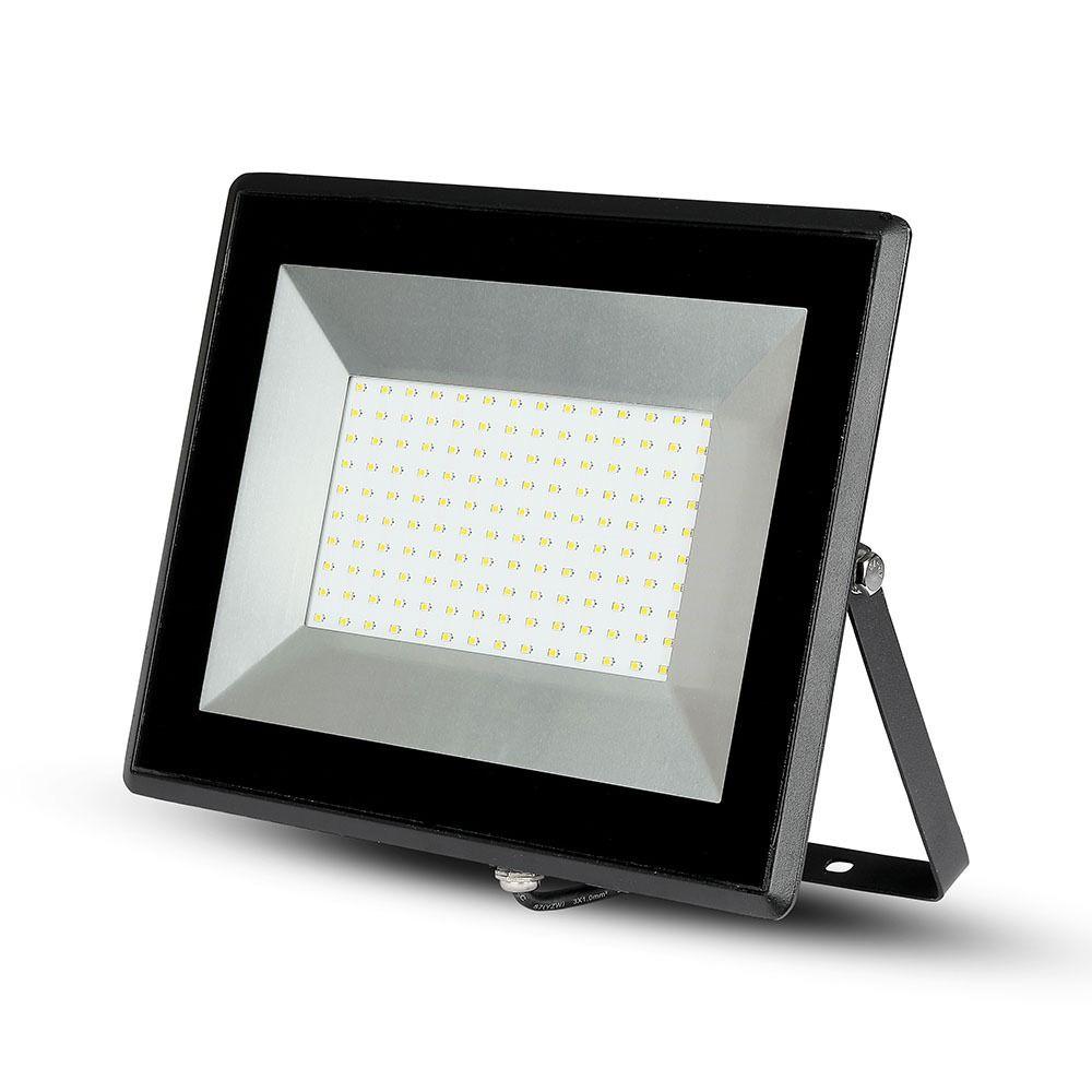 Proiector LED 100W, SMD, Seria-E Corp Negru, Lumina Calda