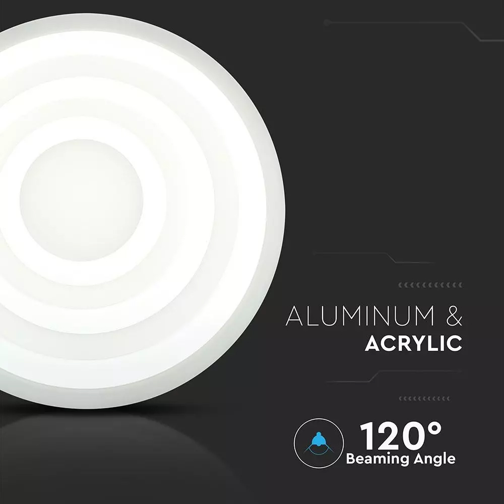 Candelabru LED 85W cu Trei Inele Dimabil, D600/400/200, Lumina Naturala 4000K