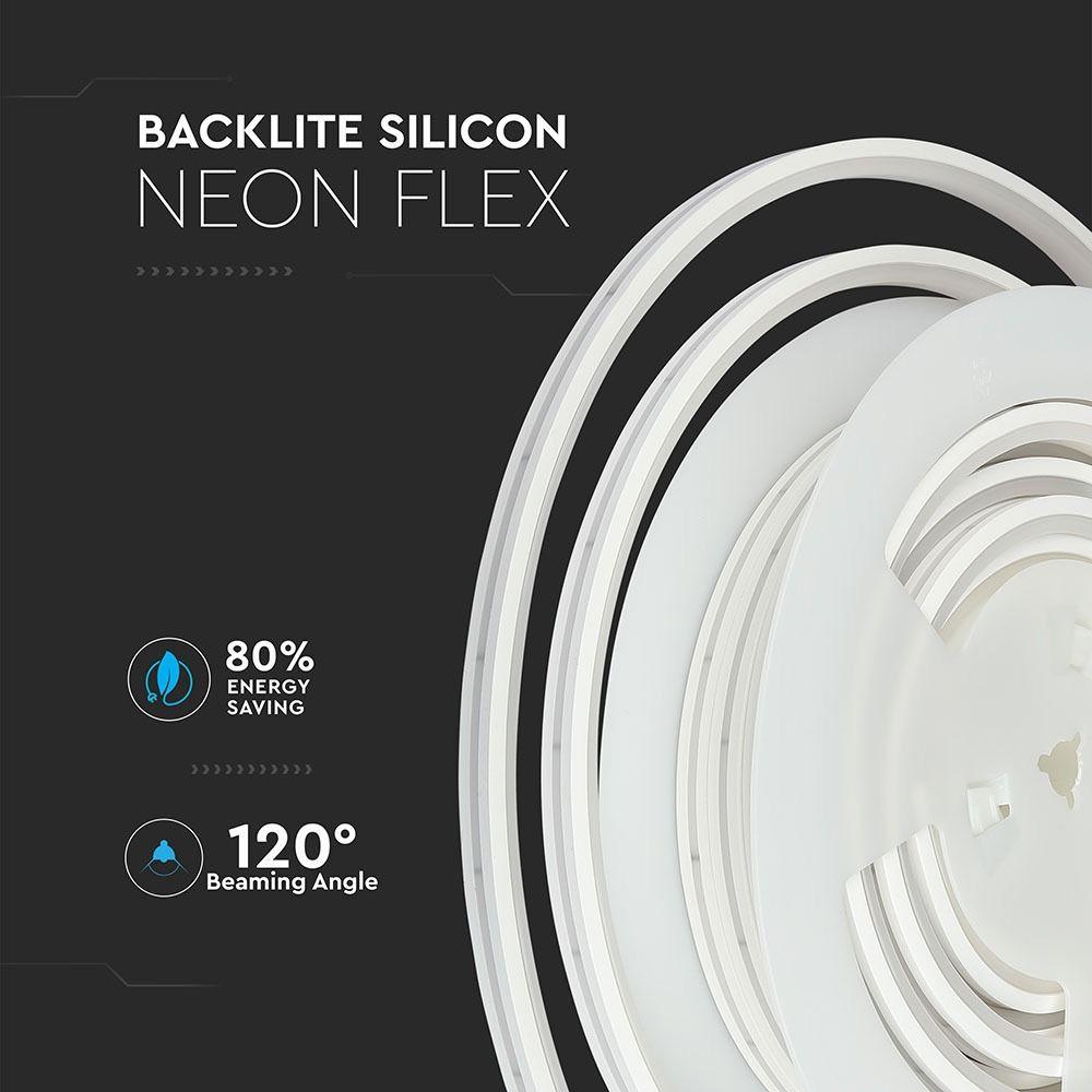Neon Flexibil din Silicon 24V,Lumina Naturala (4000K)