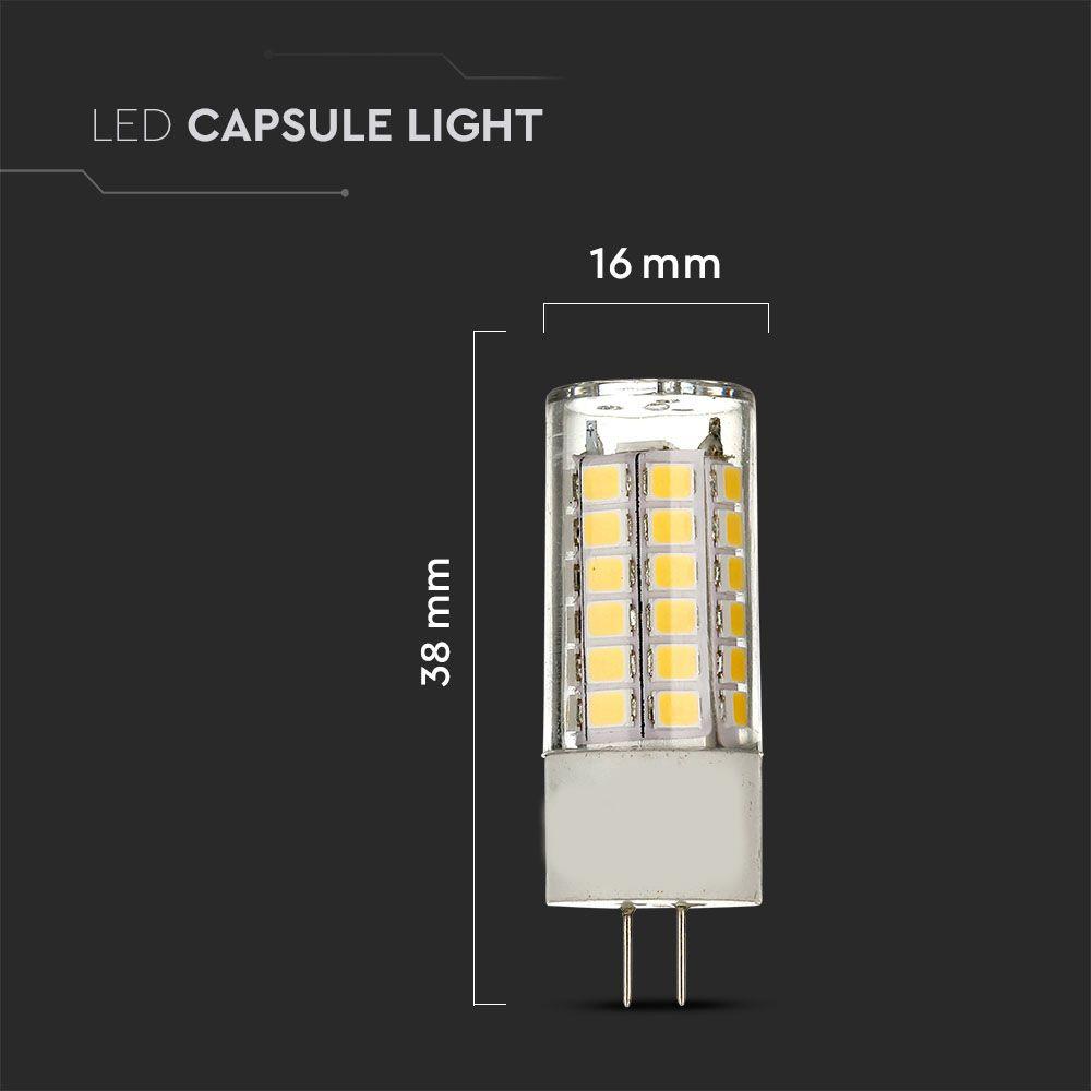 Spot LED G4, 3.2W, Plastic, Lumina Calda 3000K cu Cip Samsung