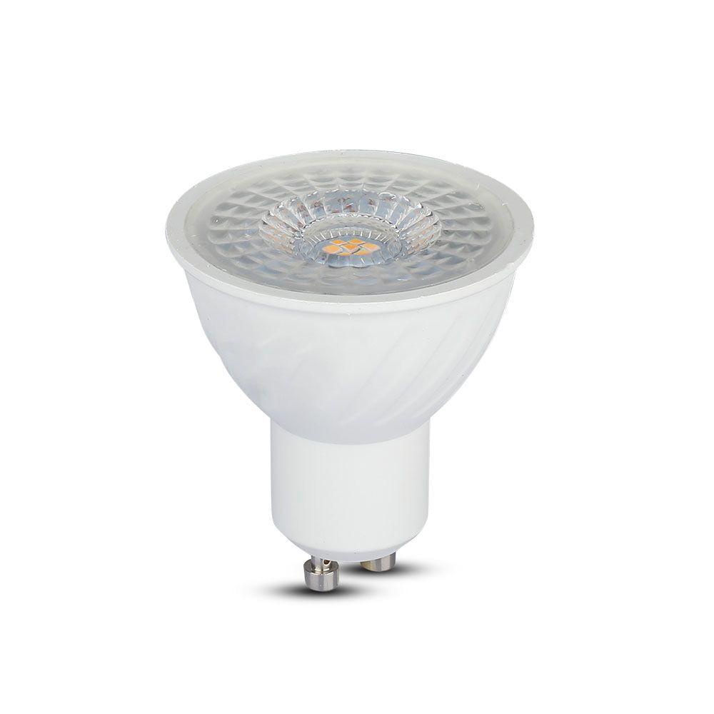 Spot LED GU10, 6.5W, Plastic Ondulat, 110`D, Lumina Rece 6400K cu CIP SAMSUNG
