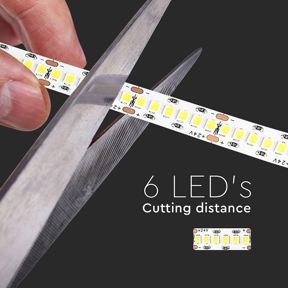 Banda LED SMD2835 15 W/m 240LED/m, Cip Samsung, Lumina Calda 3000K, 24V