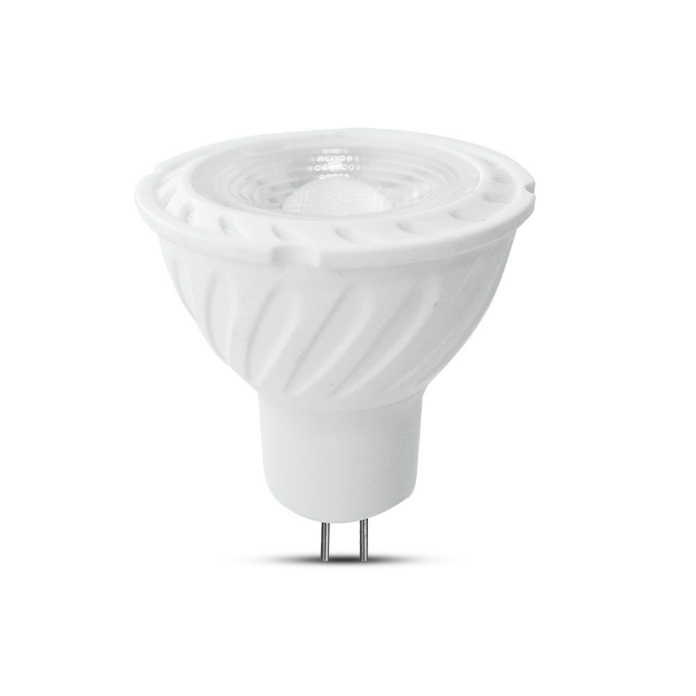 Spot LED GU5.3, 6.5W, MR16, Lentila de Plastic, Lumina Calda 3000K cu Cip Samsung