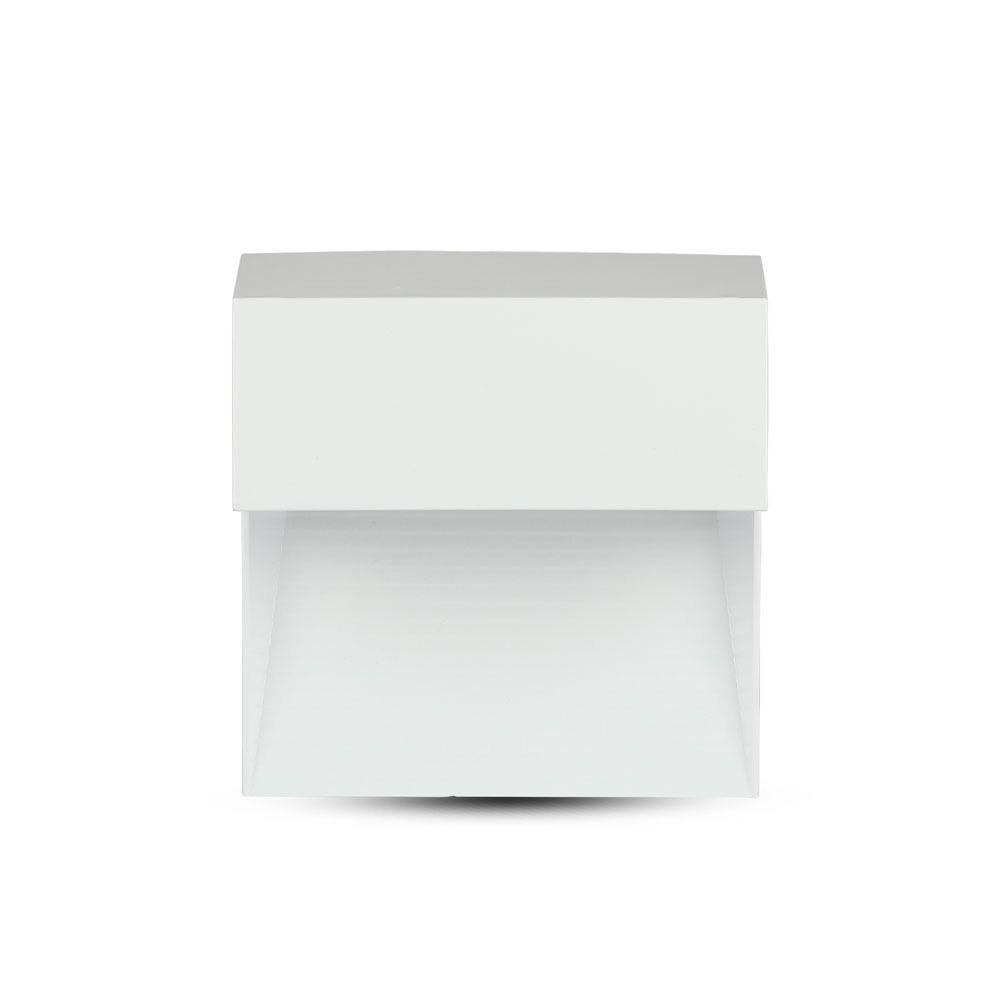 Lampa LED 3W pentru Trepte, Corp Alb Patrat, Lumina Calda (3000K)