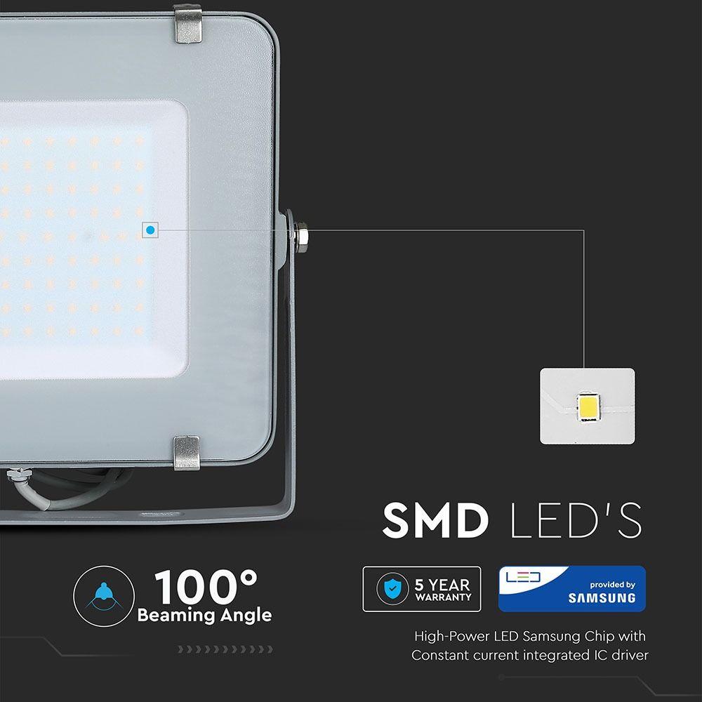Proiector LED 150W, Corp Gri, Lumina Rece cu CIP SMD SAMSUNG