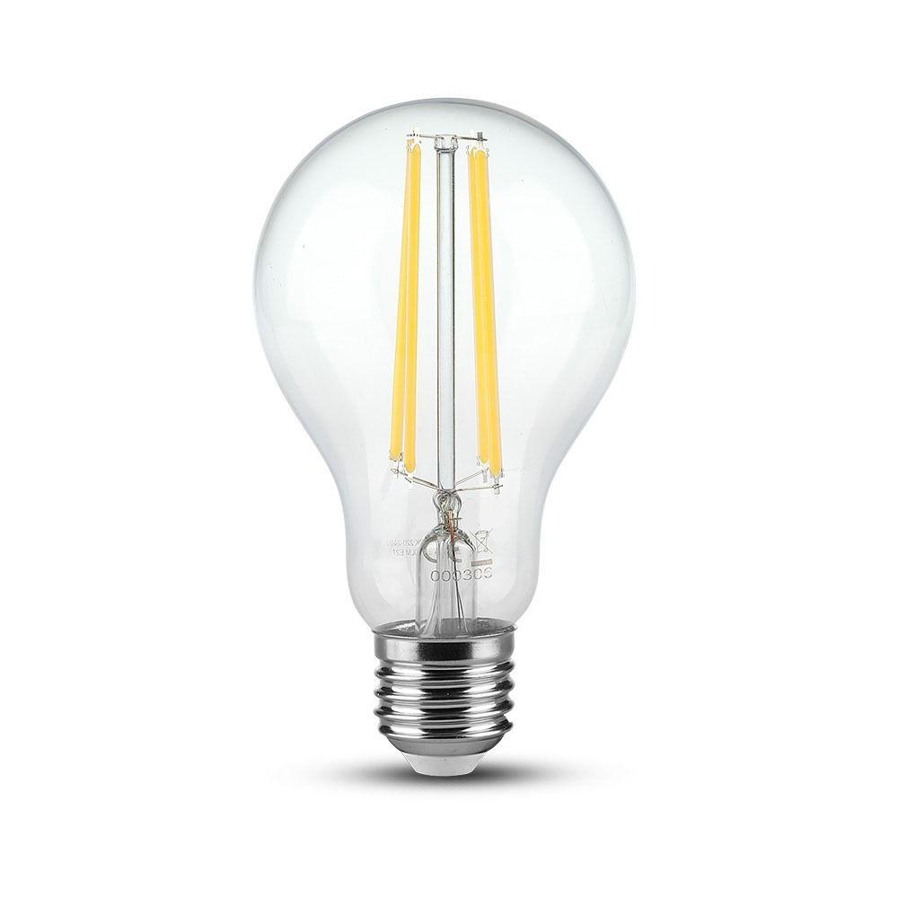 Bec LED 12.5W, Filament, E27, A70, Sticla Clara, Lumina Rece 6500K