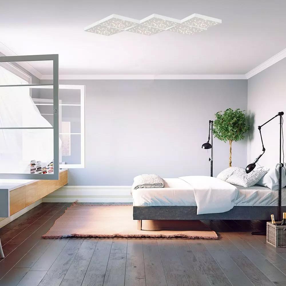 Lampa LED 8W, 900LM cu Schimbare a Temperaturii de Culoare a Luminii, Corp Alb
