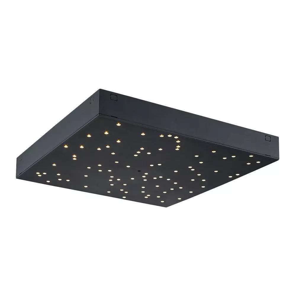 Lampa LED 8W, 900LM cu Schimbare a Temperaturii de Culoare a Luminii, Corp Negru