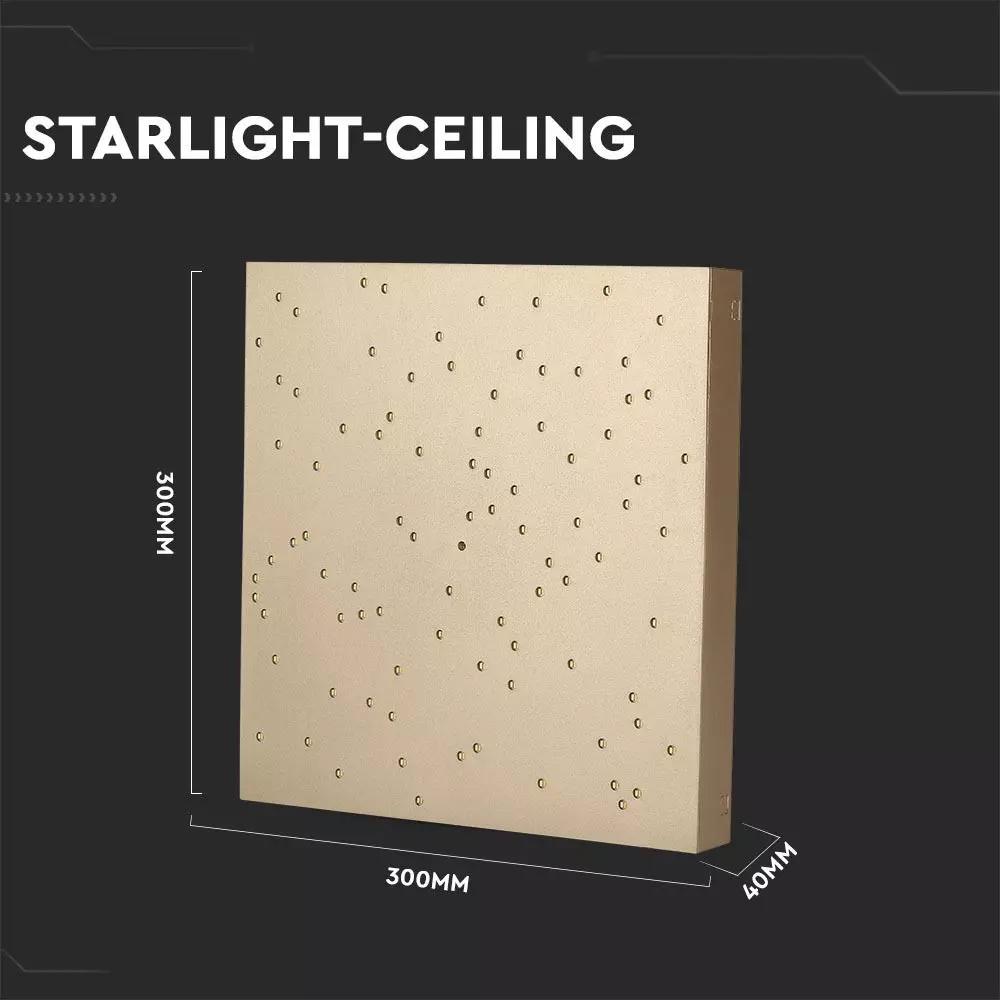 Lampa LED 8W, 900LM cu Schimbare a Temperaturii de Culoare a Luminii, Corp Auriu
