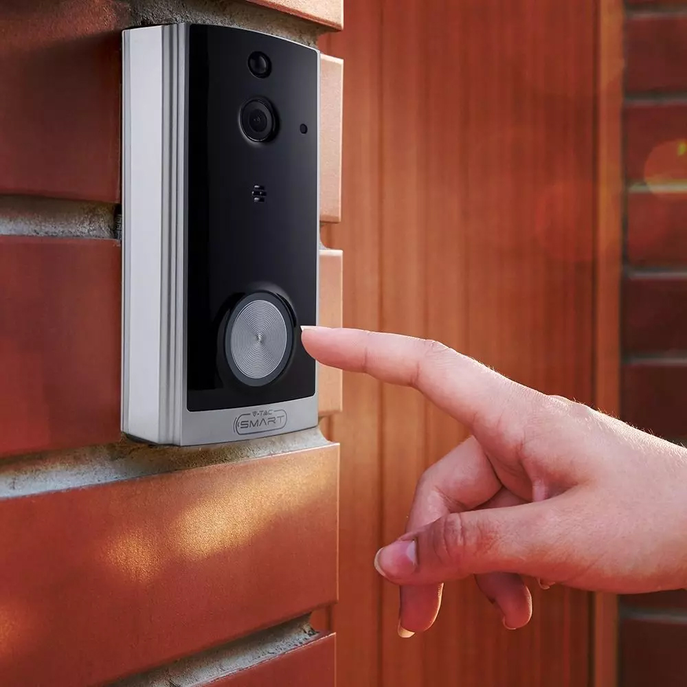 Smart Video Doorbell cu 2 cai Audio, Culoare Neagra