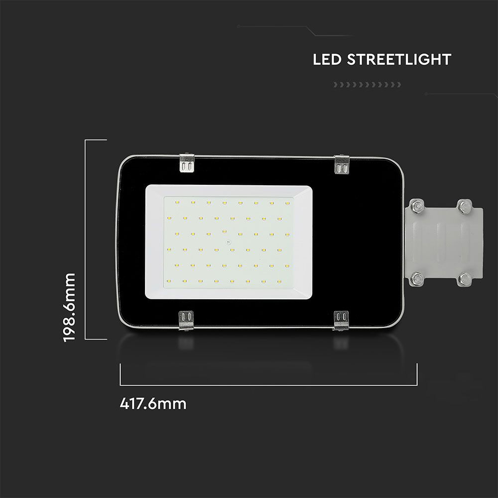 Lampa Stradala LED 30W, Corp de Gri, Lumina Naturala 4000k, SAMSUNG CHIP