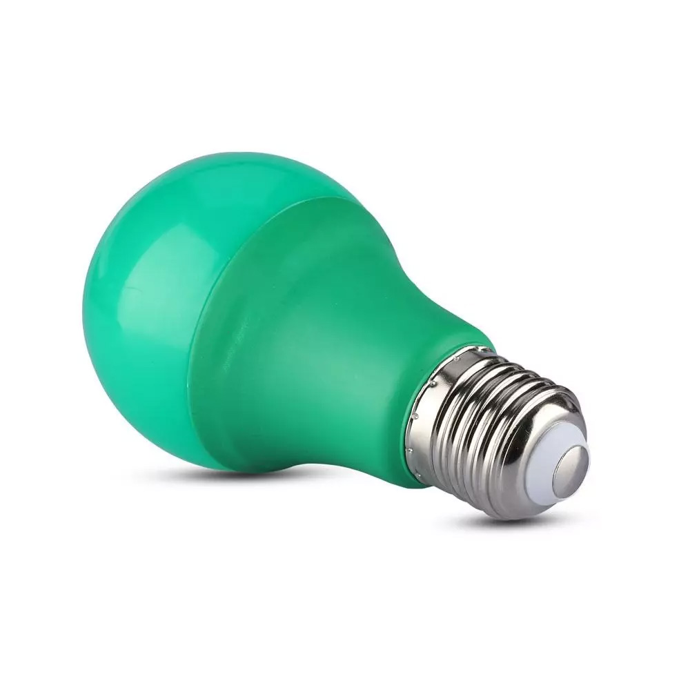 Bec LED 9W, E27, Plastic, Culoare Verde
