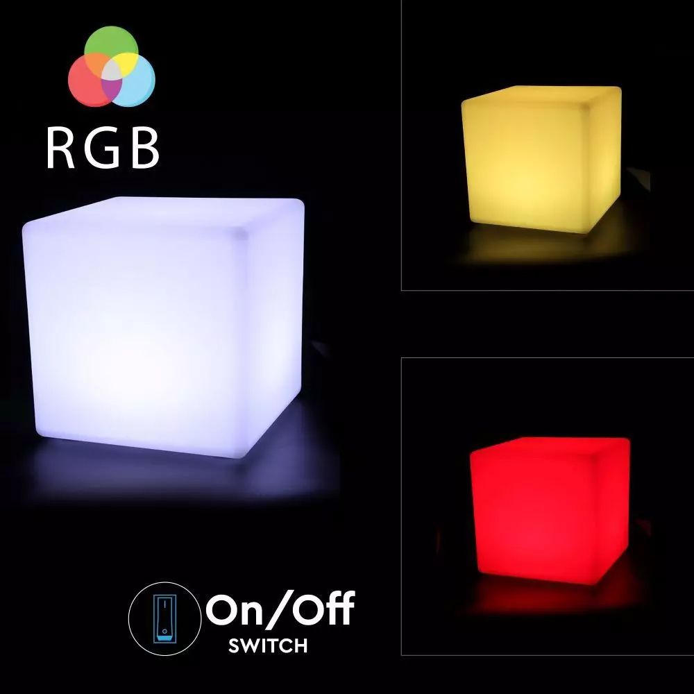 Cub LED RGB 3W, D40x40x40CM, IP65